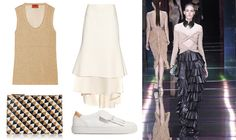 summer trend: ruffles how to wear: Top, Missoni // maxi skirt, Ellery // small bag, Clare V // shoes, Tod's // black maxi skirt, Βalmain