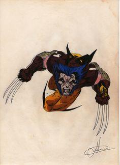 Aqui o desenho sem a montagem, cabeça e corpo no lugar! O animal pulando pra cima, quem é doido de ficar na frente?