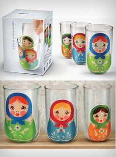 Russian Doll Stacking Glasses
