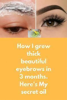 How I grew thick beautiful eyebrows in 3 months. Here's My secret oil Today i am going to share a very simple yet super effective natural remedy to grow thick beautiful eyebrows at home. If you have thin eyebrows and wish to get beautiful thick eyebrows w Beauty Care, Beauty Skin, Health And Beauty, Hair Beauty, Healthy Beauty, Beauty Makeup, Hair Makeup, Thin Eyebrows, How To Grow Eyebrows