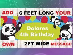 Panda Garland  Panda Banner  Panda Decoration  Panda Decor