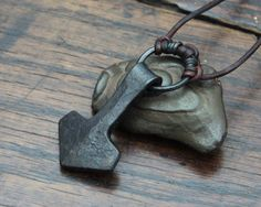 Viking Thors Hammer a forged large ringed Iron Mjolnir by Taitaya