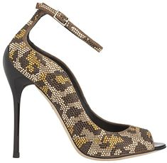 B Brian Atwood Leida Pumps in Leopard Studs on Suede