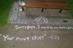 "Robin Williams' Fans Spontaneously Turned The ""Good Will Hunting"" Bench Into A Memorial #RIPRobinWilliams"