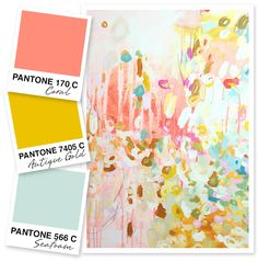 Sarah Hearts - Coral, Antique Gold and Seafoam Green Color Palette Beautiful palette, possible colors for the wedding