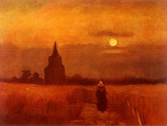 """Vincent van Gogh, """"The Old Tower in the Fields"""", 1884"""