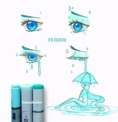 It's raining... What is the weather in your heart like? New part of my original series Eye Tales more ➡#larienneEyeTales  Thanks for support! -- Larienne.deviantart.com --