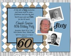 Milestone 60th Birthday invitation Modern Number Teal by starwedd