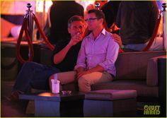 Matt Bomer cuddles with Simon Halls at Simon's 50th birthday celebration in Cabo