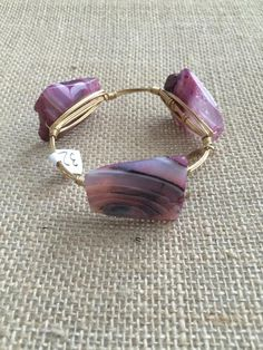 Bourbon and Boweties Pink Agate Standard Wrist