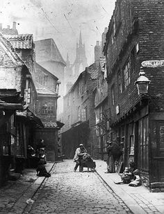 Inch Print (other products available) - A slum area at Dog Leap Stairs in Newcastle-Upon-Tyne, March (Photo by Lyddel Sawyer/General Photographic Agency/Hulton Archive/Getty Images) - Image supplied by Fine Art Storehouse - print made in the UK Antique Photos, Vintage Photographs, Vintage Photos, Old Pictures, Old Photos, Helsinki, Newcastle England, Leicester England, Victorian London