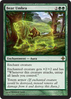 Bear-Umbra-x1-Magic-the-Gathering-1x-Rise-of-the-Eldrazi-mtg-card-rare-NM-green
