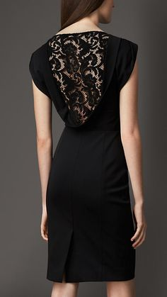 Burberry London Lace Back Dress