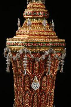 Detail of Thai royal urn