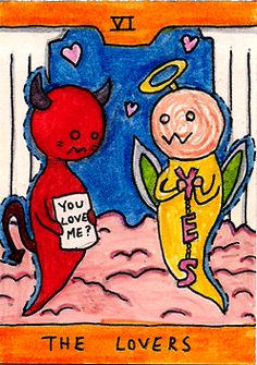 Puppets Never Die: Devil and Angel Tarot Cards