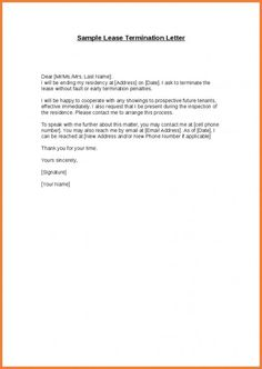 lease cancellation letter