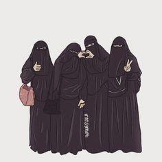 ♥hijab and niqob Arab Girls Hijab, Muslim Girls, Hijabi Girl, Girl Hijab, Hijab Style Tutorial, Hijab Drawing, Islamic Cartoon, Bff Drawings, Anime Muslim