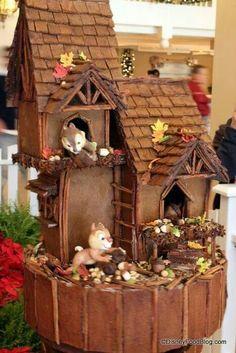 Image result for chipmunk gingerbread house