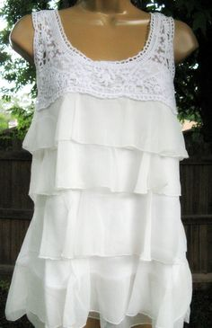 white lace and ruffles