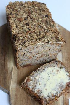 Adventure Bread - brood zonder bloem of meel, Pureed Food Recipes, Gourmet Recipes, Low Carb Recipes, Bread Recipes, Cooking Bread, Bread Baking, Healthy Cake, Healthy Baking, Bread Substitute
