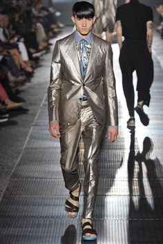 #Lanvin spring summer 13 shiny metallic suit