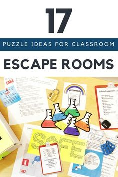 17 Escape Room Puzzle Ideas for Your Classroom Coming up with escape room ideas for your classroom can be challenging. Here are 17 escape room puzzle ideas to help get your creative juices flowing. Room Escape Games, Escape Room Diy, Escape Room For Kids, Escape Room Puzzles, Escape Room Online, Escape Room Themes, Escape Puzzle, Escape Space, Breakout Edu