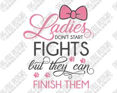 Ladies Don't Start Fights Marie Aristocats Cut File Set in SVG, EPS, DXF, JPEG, and PNG