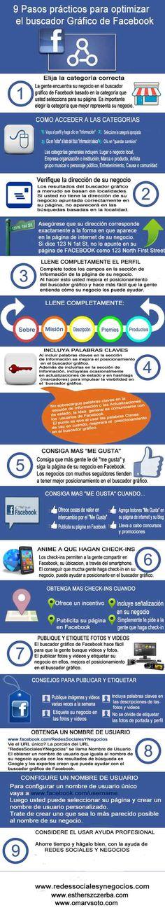 Infografía: Cómo optimizar la página de su negocio para el Buscador Gráfico de Facebook -