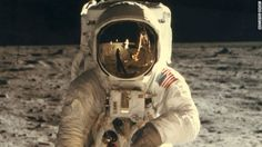 astronaut, moon, space
