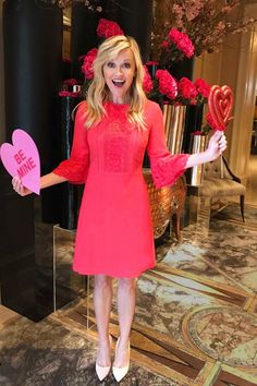 Reese Witherspoon wearing Draper James Rosslyn Dress