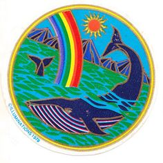 Rare Vintage Illuminations Whale in the Ocean Sticker 1981 via Etsy