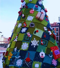 Urban Knitting Navidad 2012 Zaragoza2012
