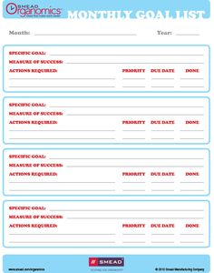 Checklist: Monthly Goals- click on the image- pdf comes up- download- save as!