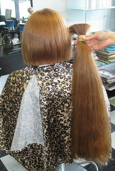 She doesn't know how much hair I have cut off! Long Hair Ponytail, Long Ponytails, Ponytail Hairstyles, Long Hair Cut Short, Very Long Hair, Short Hair Styles, Shaved Hair Women, Brunette Hair Cuts
