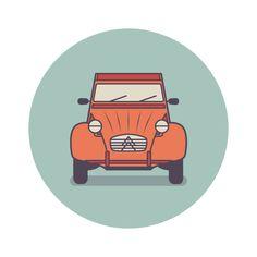 Classic utility vehicles icon design on Behance