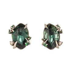 Need that pop of color for your LBD? This is it!   Juniper Marquis Stud Earring | Alexis Bittar