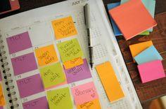 LOVe how she organize a week calander   Ultimate Lists: Blog Organizing