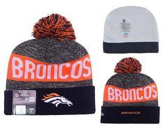 Men's / Women's Denver Broncos New Era 2016 Sideline Official Sport Knit Pom Pom…