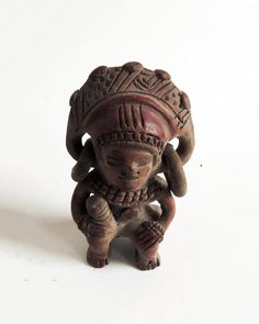 PRE-COLUMBIAN  Pottery Figure of a Worrior by BringTheNoise