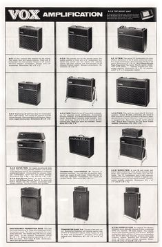 vintage vox catalogue | 1964 Vox Precsion in Sound Catalogue - Vox Amplifiers