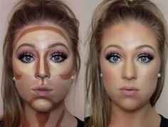 Contouring Hacks, Cream Contour, Hervorheben, Make-up Tutorials - Highlighter Makeup, Contour Makeup, Contouring And Highlighting, Beauty Makeup, Face Makeup, Hair Beauty, Contour Kit, How To Contour, Makeup Tutorials