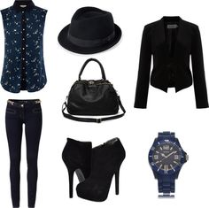 """""""Ain't Nobody Got Time For That (blue and black)"""" by frogchickk on Polyvore"""