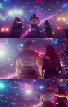 2 at the end of the film (after Yondu's death) Gaurdians Of The Galaxy, Guardians Of The Galaxy Vol 2, Marvel Memes, Marvel Avengers, Starlord And Gamora, Gamora Guardians, Marvel Couples, Star Lord, Avengers Infinity War