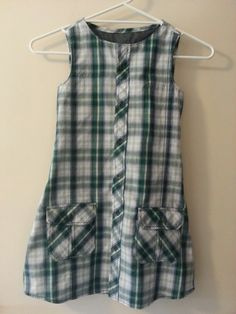 Girls dress from recycled men's shirt