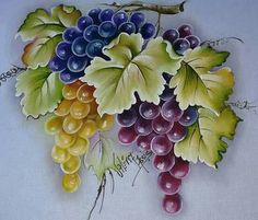 Fruit Painting, One Stroke Painting, China Painting, Tole Painting, Fabric Painting, Watercolor Paintings, Art Pictures, Art Images, Fabric Paint Designs