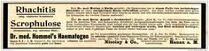 Original-Werbung/ Anzeige 1897 - DR.HOMMEL'S HAEMATOGEN / NICOLAY - HANAU - ca…
