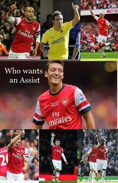Everyone wants an assist from Mesut Ozil!!!