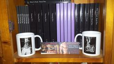 More of my books plus mugs and my business cards.