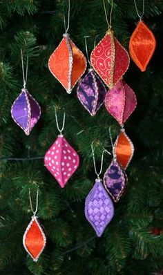 DIY Cardboard and paper or fabric ornaments