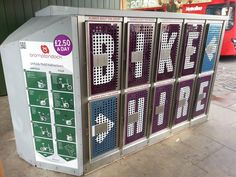 Awesome cool new Brompton Bike Dock outside Ealing Broadway station in #London #Cycling #Brompton